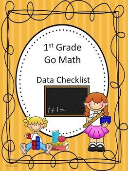 Go Math 1st Grade Data Checklists