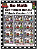 Go Math 1st Grade Exit Tickets – Bundle