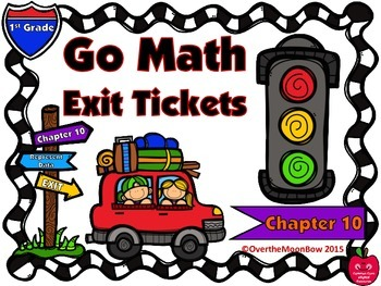 Go Math 1st Grade Exit Tickets – Chapter 10: Represent Data