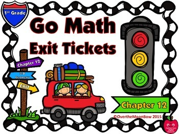 Go Math 1st Grade Exit Tickets – Chapter 12: 2-D Shapes Two-Dimensional Geometry