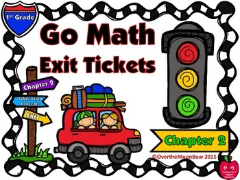 Go Math 1st Grade Exit Tickets – Chapter 2: Subtraction Concepts
