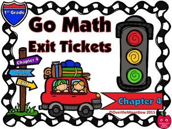 Go Math 1st Grade Exit Tickets – Chapter 4: Subtraction St