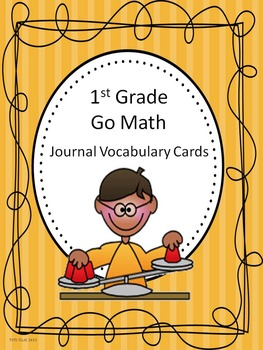Go Math 1st Grade Journal Vocabulary Cards