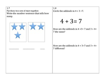 Go Math 1st Grade Chapter 1 Problem of the Day Worksheets and Assessment Tool