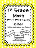 Go Math! First Grade Word Wall Cards