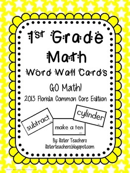 Go Math! First Grade Word Wall Cards