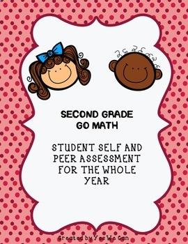 Go Math 2015 2nd Grade Student Self & Peer Assessment for