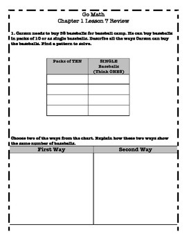 Go Math 2nd Grade - Chapter 1 Lesson 7 Review