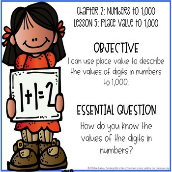 Go Math! 2nd Grade Chapter 2 Objectives
