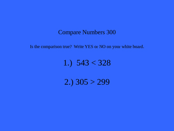 Go Math 2nd Grade Chapter 2 Test Review Game in Powerpoint