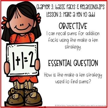 Go Math! 2nd Grade Chapter 3 Objectives