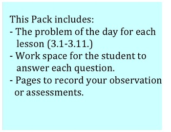 Go Math 2nd Grade Chapter 3 Problem of the Day Worksheets and Assessment Tool