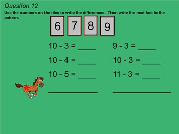 Go Math 2nd Grade Chapter 3 Test Review Game for Smartboard