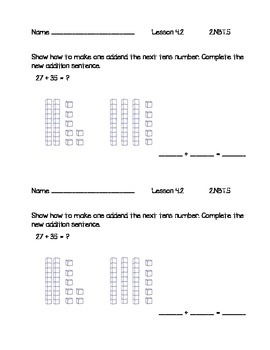 Go Math 2nd Grade Chapter 4 - Exit Slips