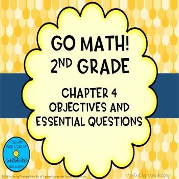 Go Math! 2nd Grade Chapter 4 Objectives