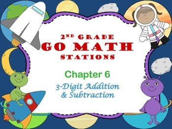 Go Math ~ 2nd Grade Chapter 6 Math Centers/Stations ~ Common Core