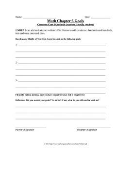 Go Math! 2nd Grade Chapter 6 Student Goals