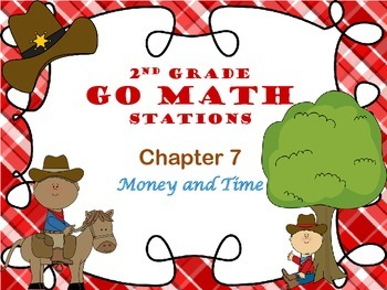 Go Math ~ 2nd Grade Chapter 7-10 Bundle Math Centers/Stations ~ Common Core