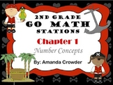 Go Math ~ 2nd Grade Chapters 1 and 2 Bundle Math Centers/S