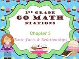 Go Math ~ 2nd Grade Chapters 3-6 Math Centers/Stations Bun
