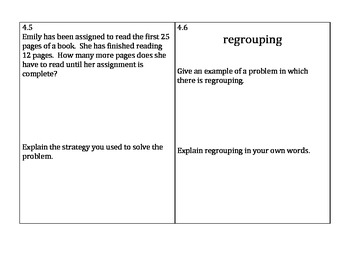 Go Math 2nd Grade Chapters 4-6 Problem of the Day Worksheets and Assessment Tool