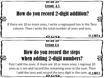 Go Math 2nd Grade Essential Questions and I Can Statements