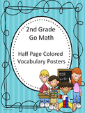Go Math 2nd Grade Half Page Colored Vocabulary Posters