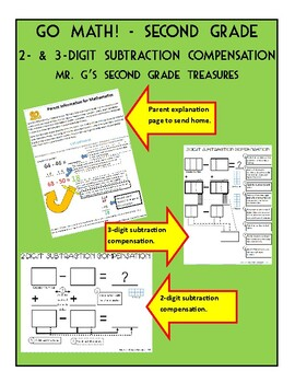 Go Math! 2nd Grade Subtraction Compensation Strategy