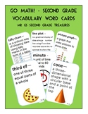Go Math 2nd Grade Vocabulary Math Word Cards