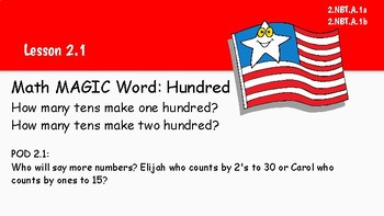 Go Math! 2nd grade Vocabulary Warm ups Chapter 2 & Word Wall Cards