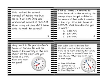 Go Math! 3rd Grade Chapter 10    Time, Length, Liquid Volume and Mass Task Cards
