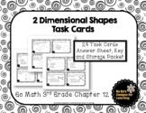 Go Math! 3rd Grade Chapter 12 Two-Dimensional Shapes Task Cards