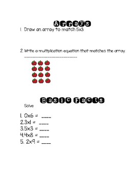 Go Math - 3rd Grade - Chapter 3 Pretest