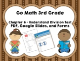 Go Math 3rd Grade Chapter 6 Tests Understanding Division -