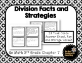 Go Math! 3rd Grade Chapter 7 Division Facts and Strategies Task Cards