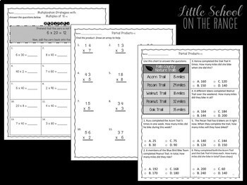 Go Math 3rd Grade: Chapter 9 Supplement - Multiplying with Two-Digit Numbers