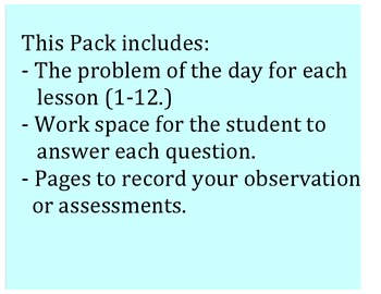 Go Math 3rd Grade Chapters 1-3 Problem of the Day Worksheets and Assessment Tool