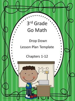 Go Math 3rd Grade Drop Down Lesson Plan Template