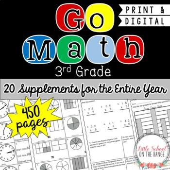 Go Math 3rd Grade - Entire Year BUNDLE