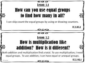 Go Math 3rd Grade Essential Question and I Can Statements