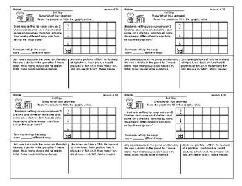 Go Math 3rd Grade Exit Slips Assessment Chapter 4