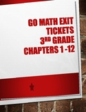 Go Math! 3rd Grade Exit Tickets Bundled