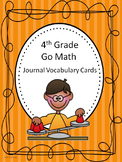 Go Math 4th Grade Journal Vocabulary Cards