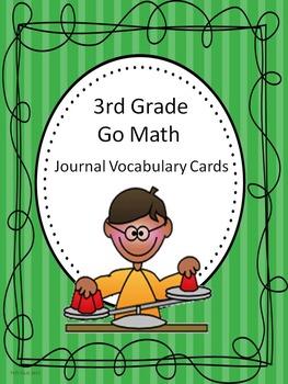Go Math 3rd Grade Journal Vocabulary Cards