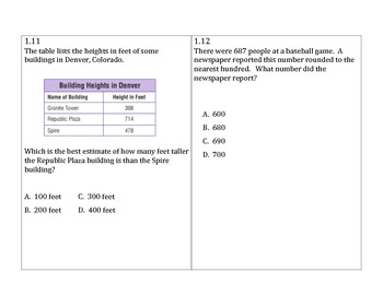 Go Math 3rd Grade Problem of the Day Chapter 1 Worksheets and Assessment Tool