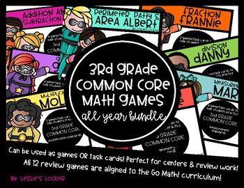 Go Math! 3rd Grade Math Games MEGA Bundle