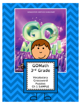 Go Math 3rd Grade Vocabulary Crossword Puzzles - Chapter 1 SAMPLE