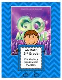 Go Math 3rd Grade Vocabulary Crossword Puzzles (All 12 Cha