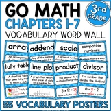 Go Math 3rd Grade Vocabulary - Chapters 1-7