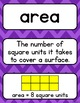 Go Math 3rd Grade Vocabulary Packet - Chapters 10-12: Definitions, Examples